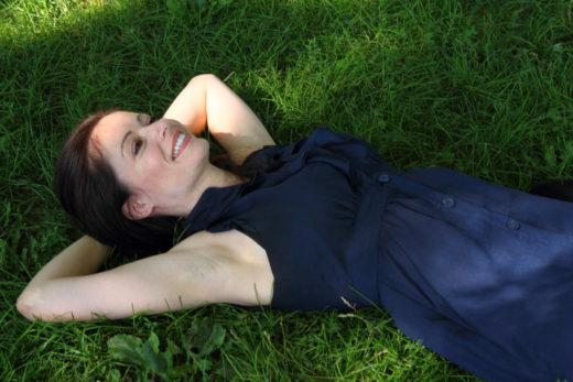 james dean lying in grass shot